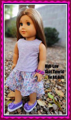 High Low Skirt for American Girl Dolls | Free Sewing Pattern for American Girl Dolls