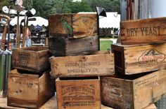 I luv old wood boxes and I have a few. One of my favs is the Winchester box.