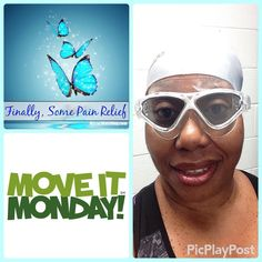 Hey #fitfam it is #MoveItMonday!  What was your workout today? Or what will you be doing before the day ends? I try #nevermissamonday #workout. It sets the intention for the week!  I got my #swim on today. I'm improving with the breathing with my face in water. The #selfie is me with my new gear. Loving my mask and #swimcap I don't need help getting on.  My kick is getting stronger but WAIT!  Why didn't anyone tell me about #flippers. OMG! Magic!  I will be getting a pair for next week…