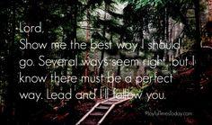 Prayer for direction