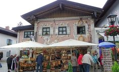 Wood carving shops in Oberammergau, Germany