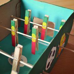 Un mini babyfoot - DIY babyfoot for kids - Marie Claire Idées