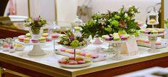 Greenery & Pastels Macarons Bar