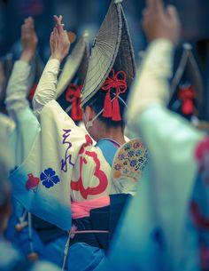 天神天満阿波おどり kimono OSAKA, JAPAN
