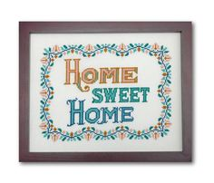 Home Sweet Home Cross Stitch Pattern Instant by tinymodernist, $6.00