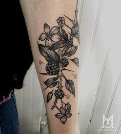 blackberry plant tattoo - Google Search