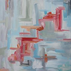 12x12 Abstract Original Painting entitled Up and by OldBunnyStudio, $35.00