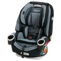 Graco 4Ever All-in-1 Car Seat, Nova, gives you 10 years with one car seat. It's comfortable for your child and convenient for you as it transitions from rear-facing infant car seat (4-40 lbs.) to forward-facing 5-point harness seat (20–65 lbs.) to high-back belt-positioning booster (30–100 lbs.) to backless belt-positioning booster (40-120 lbs.). For a proper fit, the Simply Safe Adjust™ Harness System and 10-position headrest lets you adjust the harness and headrest tog...