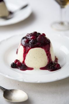 Panna Cotta with Boozy Berries...A real treat and easier to make than you might think. | DonalSkehan.com