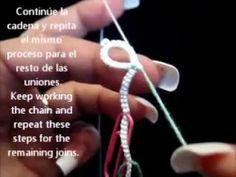 Frivolite-tatting lesson 88 - picot en hilo base - clip join - YouTube