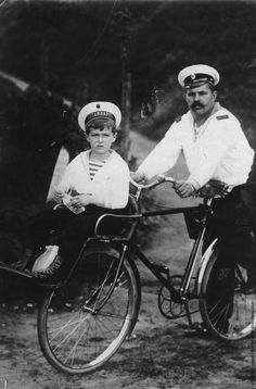 Prince Alexi and his constant companion, whose job it was to watch over him so that he did not have any injuries which might cause a hemophiliac crisis.