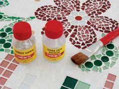 Mesa com tampo de mosaico - Portal de Artesanato - O melhor site de artesanato com passo a passo gratuito
