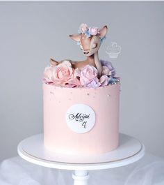 Birthday Cake Roses, Baby Girl Birthday Cake, Beautiful Birthday Cakes, Fancy Cakes, Cute Cakes, Cake Designs For Kids, Creative Birthday Cakes, Beautiful Cake Designs, Birthday Cake Decorating