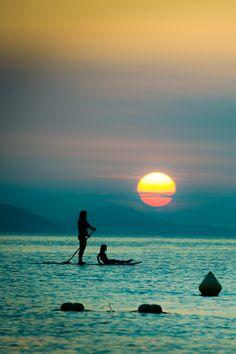 Tumblr Beach Photography   beach, vertical photography, girl, stand up, summer, sun, magic sunset