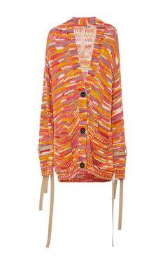 Medium no 21 multi multi stripe crochet cardigan
