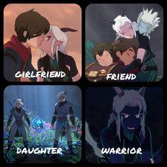 Rayla Dragon Prince, Prince Dragon, Dragon Princess, Dragon Prince Season 3, Rayla X Callum, Avatar Cartoon, Nerd Herd, She Ra Princess Of Power, Big Hero 6
