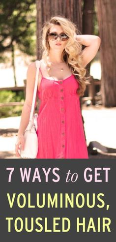 Ways to help make it look like you have way more hair than you actually do;)