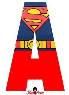 Lindo Alfabeto de Superman Gratis.