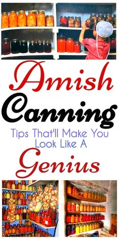 Canning Tips From The Amish You Don't Want To Miss #canning #amish #homemade #pantry