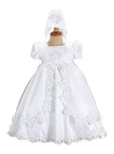 Vestido para Batizado em Renda. Puro Glamour!Queromuito! Girls Dresses, Flower Girl Dresses, Frocks, Envelopes, Victorian, Glamour, Tags, Wedding Dresses, Fashion