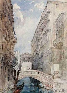 William Callow - The Bridge of Sighs, Venice