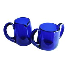 Cobalt Blue Cream & Sugar Set