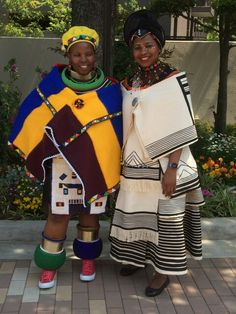 Ndebele and Xhosa Xhosa Attire, African Attire, African Wear, African Women, African Dress, African Fashion, South African Traditional Dresses, Traditional Outfits, African Traditions