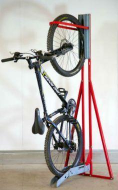 BikeAway: BikeAway free-standing upright bike stand 1 of 1 Bicycle Hanger, Diy Bike Rack, Bicycle Stand, Bike Storage Rack, Standing Bike Rack, Bike Ride Quotes, Pimp Your Bike, Vertical Bike Rack, Range Velo