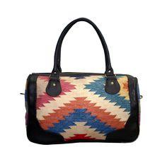 New Cotton Kilim Bag Shoulder Kilim Bag Leather Travel Cross Body Handbag  #Handmade #BackpackBeachBagCrossbodyEveningBag