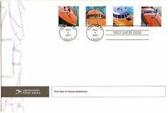 #4160-#4163 First Day Ceremony Program 41c Vintage Speedboats Stamps