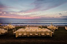 Who wouldn't want an amazing sunset during your wedding reception?  #GrandVelas #RivieraNayarit #Wedding #Beach