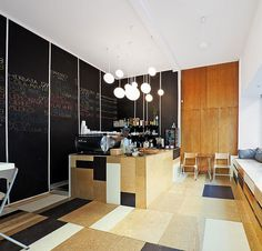 Interior Design Magazine: Relaks Cafe by Moko Architects features stunning mixed-material mosaic floors. #InteriorDesignMagaine #InteriorDesign #Design #MosaicFloor #MokoArchitects #Warsaw #Poland #cafe #clubcafe