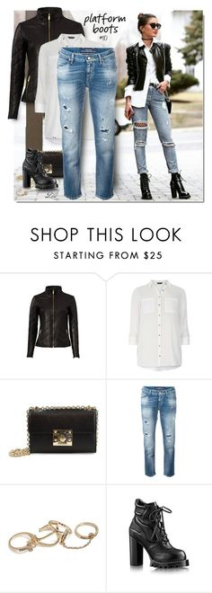 """""""Kickin' It: Platform Boots"""" by breathing-style ❤ liked on Polyvore featuring Badgley Mischka, Dorothy Perkins, Sam Edelman, Jacob Cohёn and GUESS"""