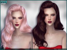 Anto Omen Hair by Alesso at TSR via Sims 4 Updates