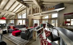 Ski Chalet - What do I like here?  ALL of it. ...  Chalet Muztagh | HomeDSGN, a daily source for inspiration and fresh ideas on interior design and home decoration.