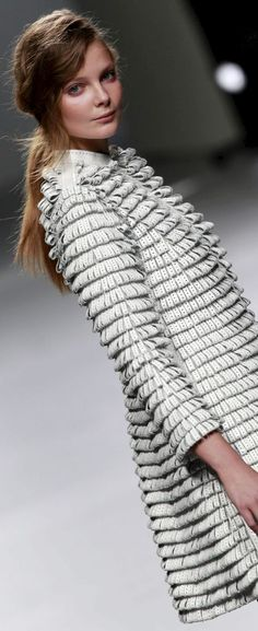 Jacket with Looped Textures - surface creation using fabric manipulation techniques for fashion