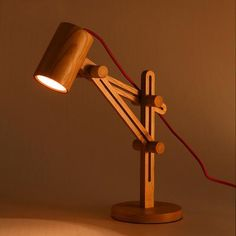 Wood Adjustable Desk Lamp with Wooden Shade Lever - Lighting and More! lamp Unique Wooden Adjustable Desk Lamp with Wooden Shade and Sliding Arms Wooden Desk Lamp, Table Lamp Wood, Adjustable Desk, Woodworking Projects Diy, Woodworking Lamp, Popular Woodworking, Teds Woodworking, Bedroom Lamps, Lamp Light