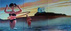 "Saatchi Art Artist: Geoffrey Greene; Acrylic 2013 Painting ""American Couple #2"""
