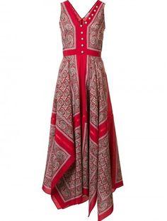 Altuzarra printed draped dress  Details: Red silk printed draped dress