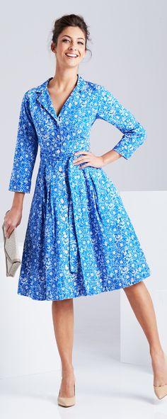 THAT BIRD LABEL - Lyla Shirt Dress   #thatbirdlabel #tuttifruitti #spring #floral #print #pattern #shirtdress
