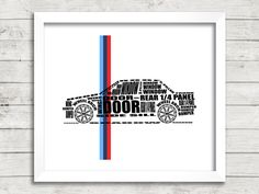 "BMW E30 3 Series, Automotive Art, Typographic Car, E30, Instant Download, Automotive Decor, Typographic Car, 8x10"", 14x11"", 16x20"" by SimplyDigitalArt on Etsy https://www.etsy.com/listing/211655156/bmw-e30-3-series-automotive-art"