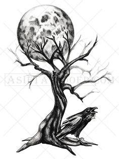 This highly detailed black and white temporary tree tattoo look super cool as an arm tattoo, shoulder or chest tattoo or placed anywhere you like! The barren tr