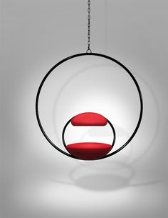 Attractive Upholstered Ring Hanging Chair   Home Decor   Pinterest   Hanging Chair