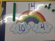 Kroger's Kindergarten: Rainbow teen numbers freebie
