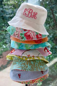 a1cc74abbb6 Oliver + S Reversible Bucket Hats Used Embroidery Machines