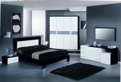 Black and white furniture
