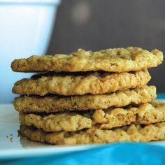 Oatmeal coconut cookies provide a taste of the unexpected.data-pin-do= Coconut Pecan Cookie Recipe, Pecan Cookie Recipes, Oatmeal Coconut Cookies, Sugar Cookie Recipe Easy, Easy Sugar Cookies, Cookie Desserts, Yummy Cookies, Brownie Recipes, Baking Recipes
