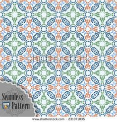 Seamless pattern with ornamental oriental arabesque in assorted colors;Symmetrical with borders. The elements are grouped for easy edit colors and shapes. Arabesque, Royalty Free Images, Vector Art, Vectors, Oriental, Shapes, Illustrations, Stock Photos, Quilts