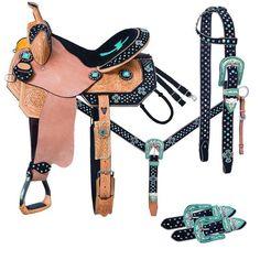 Cheyenne Barrel 5 Piece Horse Saddle Package - 9SR773