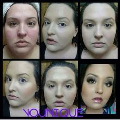 Another reason why I love Younique - just look at the transformation with just a few clever products!!   www.youniqueproducts.com/melaniejbrook